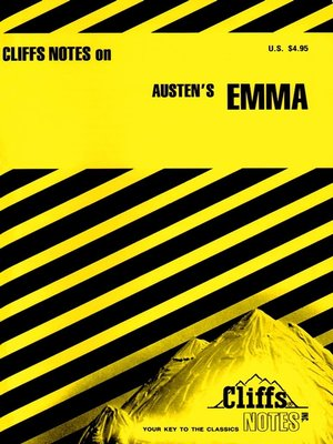 cover image of CliffsNotes on Austen's Emma