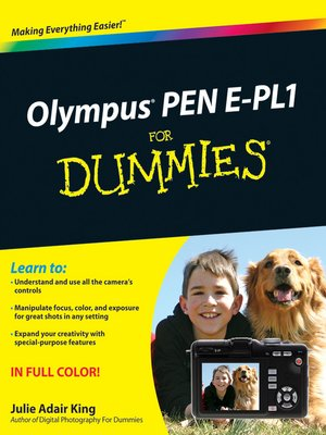 cover image of Olympus PEN E-PL1 For Dummies