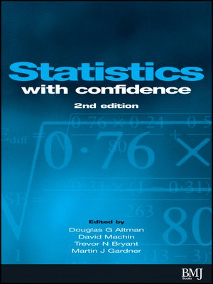 cover image of Statistics with Confidence