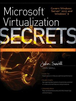 cover image of Microsoft Virtualization Secrets