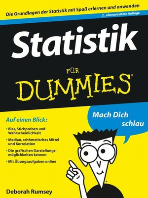 cover image of Statistik für Dummies