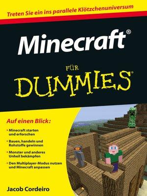 cover image of Minecraft für Dummies