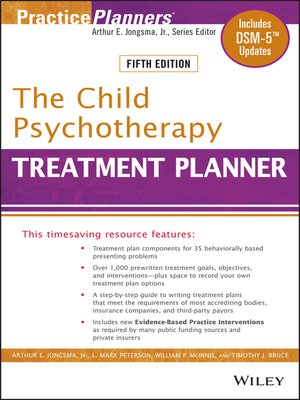 cover image of The Child Psychotherapy Treatment Planner