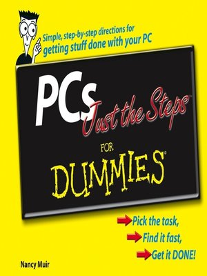 cover image of PCs Just the Steps For Dummies