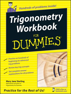 cover image of Trigonometry Workbook For Dummies