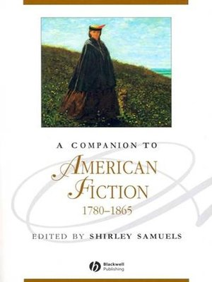 cover image of A Companion to American Fiction 1780-1865