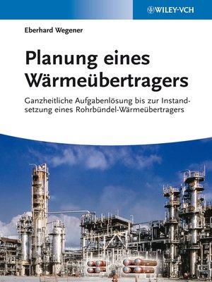 cover image of Planung eines Wärmeübertragers