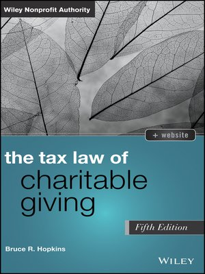 cover image of The Tax Law of Charitable Giving