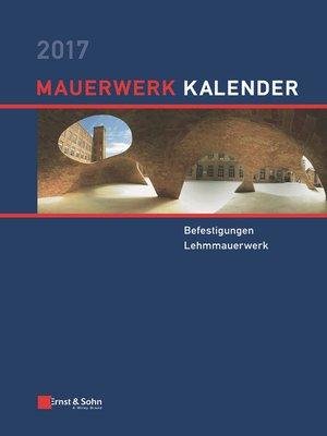 cover image of Mauerwerk Kalender 2017