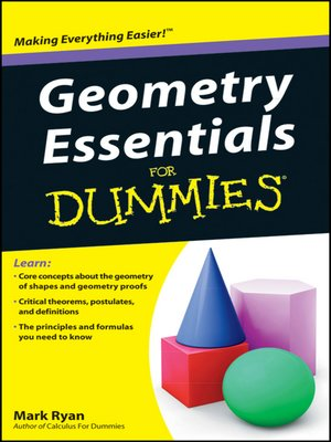 cover image of Geometry Essentials For Dummies