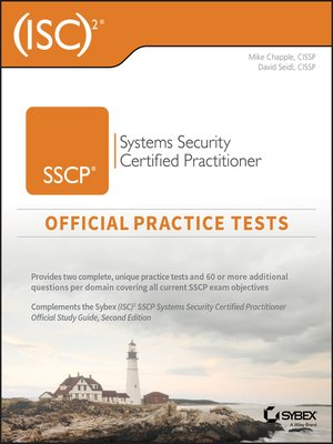 cover image of (ISC)2 SSCP Systems Security Certified Practitioner Official Practice Tests