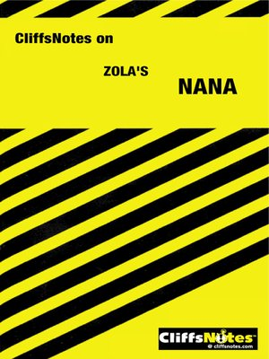 cover image of CliffsNotes on Zola's Nana