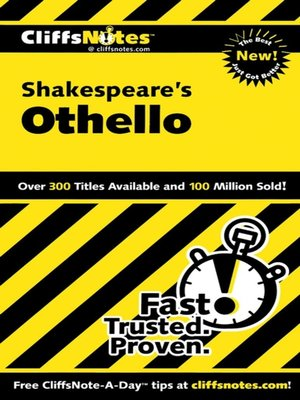 cover image of CliffsNotes on Shakespeare's Othello