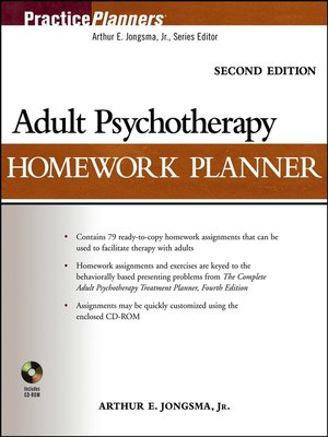 cover image of Adult Psychotherapy Homework Planner