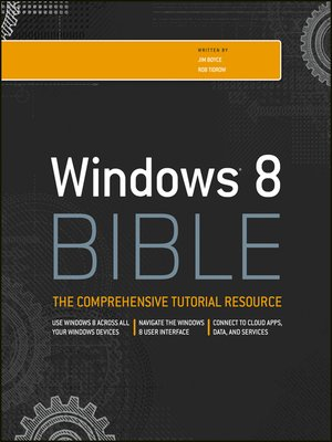 cover image of Windows 8 Bible
