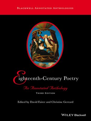 cover image of Eighteenth-Century Poetry
