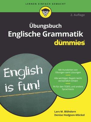 cover image of Übungsbuch Englische Grammatik für Dummies