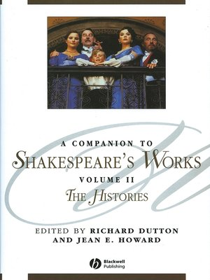 cover image of A Companion to Shakespeare's Works, Volume II