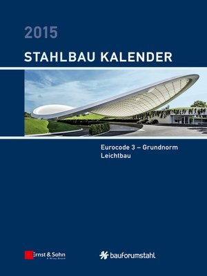 cover image of Stahlbau-Kalender 2015