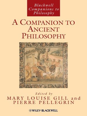 cover image of A Companion to Ancient Philosophy