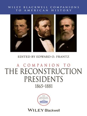 cover image of A Companion to the Reconstruction Presidents 1865-1881