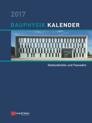 cover image of Bauphysik Kalender 2017