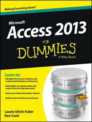 cover image of Access 2013 For Dummies