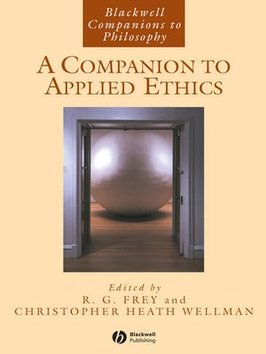 cover image of A Companion to Applied Ethics