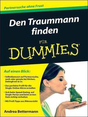 cover image of Den Traummann finden für Dummies