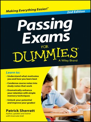 cover image of Passing Exams for Dummies
