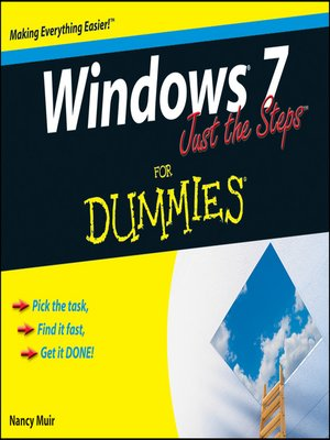 cover image of Windows 7 Just the Steps For Dummies