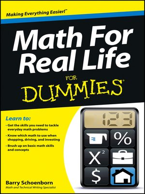 cover image of Math For Real Life For Dummies