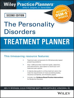 cover image of The Personality Disorders Treatment Planner