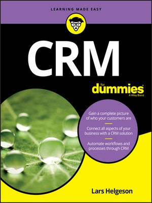 cover image of CRM For Dummies