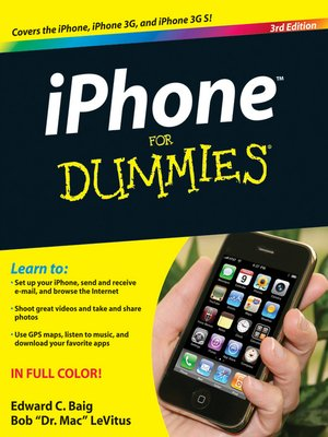 iphone for dummies by edward c baig overdrive ebooks audiobooks and videos for libraries overdrive