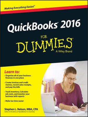 cover image of QuickBooks 2016 For Dummies