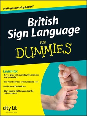 cover image of British Sign Language For Dummies®
