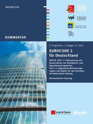 cover image of Eurocode 2 für Deutschland. Kommentierte Fassung