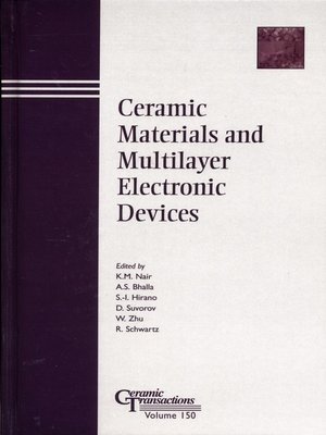 cover image of Ceramic Materials and Multilayer Electronic Devices