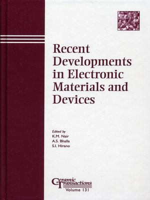 cover image of Recent Developments in Electronic Materials and Devices