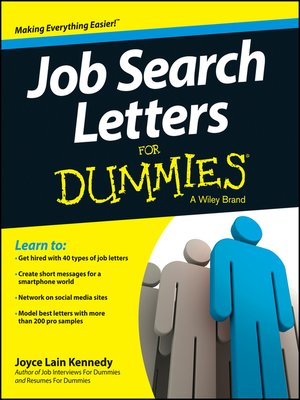 cover image of Job Search Letters For Dummies