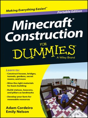 cover image of Minecraft Construction For Dummies