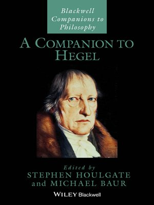 cover image of A Companion to Hegel
