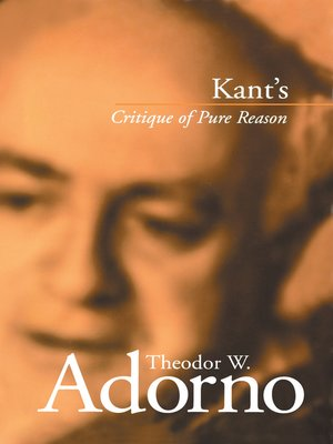 cover image of Kant's Critique of Pure Reason