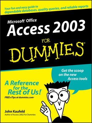 cover image of Access 2003 For Dummies