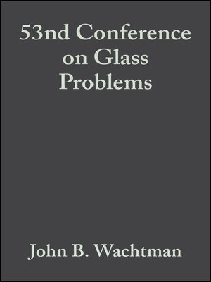 cover image of 53nd Conference on Glass Problems