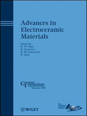 cover image of Advances in Electroceramic Materials