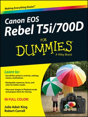 cover image of Canon EOS Rebel T5i/700D For Dummies