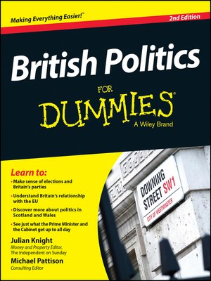 cover image of British Politics For Dummies
