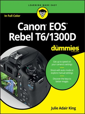 cover image of Canon EOS Rebel T6/1300D For Dummies